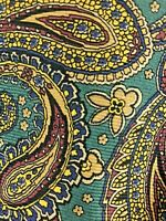 Vintage Polo Ralph Lauren Mens Silk Designer Necktie Stunning Paisley Tie EUC