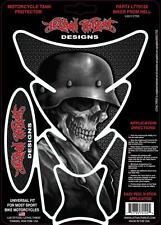 Amenaza letal Moto Bicicleta Tank Pad Protector De Etiqueta Casco Calavera lt70122