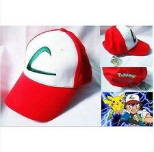 Anime Pokemon ASH KETCHUM trainer costume cosplay hat cap HHN.62