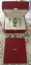 CARTIER TANK SOLO 3170 STAINLESS STEEL QUARTZ LADIES WATCH 6-6 5/8 Inches
