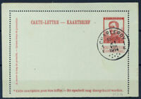 Belgio 1913 Mi. k 20 Intero postale 80% Albert I, Timbrato 10 C