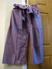 Men Women Thai Fishermen Pants Purple Toray Casual Hippie Wrap Trousers