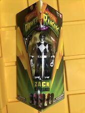 MIGHTY MORPHIN POWER RANGERS Zack Black Ranger Saban?s Bandai Ages 15+ NIMB