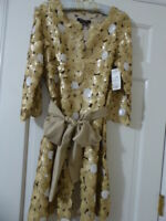 Womens Sequin Cardigan Etcetera with Belt  New with Tags