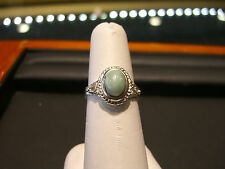 WOMENS JADE STERLING SILVER RING HAND MADE ITALIAN 925 NEW WOW SIZE 8