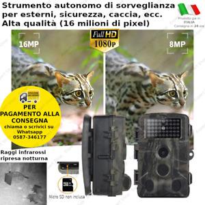 FOTOTRAPPOLA VIDEOCAMERA HD MIMETICA SPIA OCCULTABILE INFRAROSSI 2021 ITALIANI