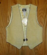 Lucchese Vest NWT Size XS Yellow Women's Silver Detailing Western Wear