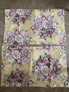 Set of 2 Ralph Lauren Sophie Brooke King Pillow Shams - Yellow Floral