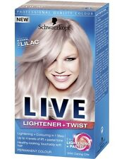 Schwarzkopf Live Lightener And Twist 104 Cool Lilac Long Last Hair Colour Dye x1