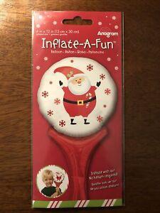 Inflate A Fun, Christmas Balloon, No Helium Required Santa