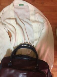 FRED PERRY SWATER and BAG MADE IN FRANCE TENNIS 1980s