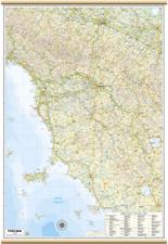 TOSCANA CARTA REGIONALE MURALE 67X100 CM [MAPPA/CARTINA/POSTER] BELLETTI