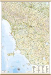 Toscana Carta Regionale Murale [67x100 cm] [Mappa/Cartina/Poster] Belletti