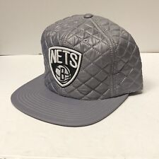 b384334c79d Authentic Mitchell   Ness NEW Official Brooklyn Nets NBA Quilted Gray  Snapback