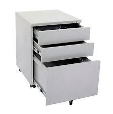 Metal Mobile Pedestal drawers Steel drawers Office Desk drawers furniture silver