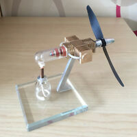 Amazing Cool Hot Air Stirling Engine Model Toy DIY Airplane Propeller Generator