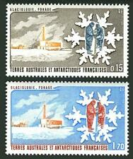FSAT 105-106,MNH.Michel 182-183. Glaciology 1984.Glacier.Base.