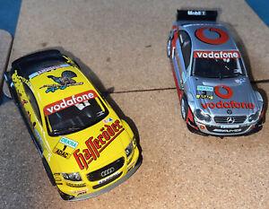 SCX Digital slot cars German Touring Cars. Audi TT and Mercedes CLK