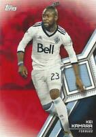 2018 Topps Major League Soccer Base Common (#41 - #60) Red Parallel /10 - MLS