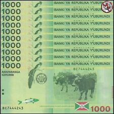 Burundi - 1.000 Francs 2015 - Pick- 51 - Set 10 PCS - UNC