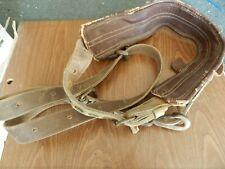 Miller 75N Leather Back Saver Lineman Body Belt Used Klein 5295-6