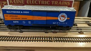 K-Line K-6473 Baltimore & Ohio Classic Box Car W/OB C-8