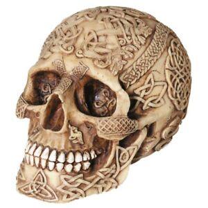 Keltisch verzierter Totenkopf