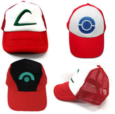 Pokemon Ash Ketchum Hat Cap Trucker Baseball Curved Hip-Hop Cosplay Costume