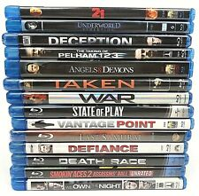 Blu-Ray Lot 14 Movies Watched One Time Action Adventure Suspense
