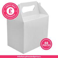 48x Kinderparty Butterbrotdosen Imbiss Boxen Weiße Hochzeit Essen Bag