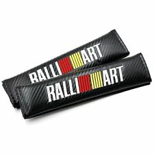 2 Pieces Ralliart Seat Belt Shoulder Pad Sleeve Carbon Fiber Black for Mitsubish
