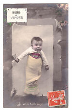 CPA ORPHAN BABY BEBE ORPHELIN A VENDRE - Je serai bien sage ... 1911