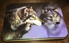 Collectable Tin Wolves -Two wolves circling in on a hunt, or keeping watch
