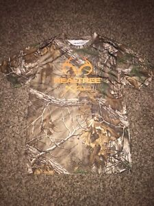 Realtree Youth Small 34/36 Xtra Brown Camo Polyester Short Sleeve T-Shirt