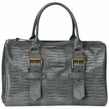 NWT Kate Moss for Longchamp Goucester Duffel Tote Handbag - Grey Croc Leather