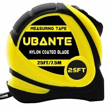 NEW UBANTE Yellow Measuring Tape Measure 1-Inch x 25-Foot Retractable Heavy Duty
