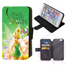 TINKERBELL FAIRY Flip Phone Case Wallet iPhone Galaxy 4 5 6 7 8 Plus X Comp (E)