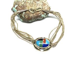 "Carolyn Pollack Relios Multi Stone Sterling Silver Liquid Silver 7"" Bracelet"