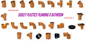 Underground Drainage 110mm Pipe & Fitting, Bends, Traps, Gully FREE P&P OVER £30