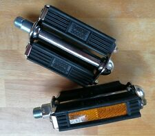 NEW! MKS Traditional Rubber Block Bicycle Pedals 3000R With Reflectors - RETRO