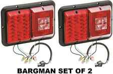 BARGMAN SET OF 2 (TWO) LED RECESSED TRAILER TAILLIGHT #84/85 SERIES W BLACK BASE
