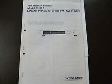 Service Manual Harman Kardon  Linear Phase Stereo FM/AM Tuner Model TU 910