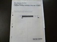 Service Manual Harman Kardon  Linear Phase Stereo FM/AM Tuner Model TU 910