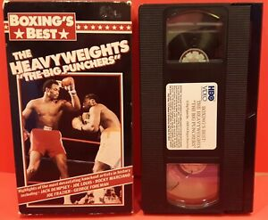 """Boxing's Best - THE HEAVYWEIGHTS """"THE BIG PUNCHERS"""" - HBO Video 1989 VHS - RARE"""