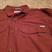 NEW Columbia Omni-Shade Large Brown Activewear Casual Long Sleeve Button Down
