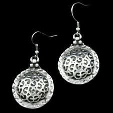 Silver Circle Earrings Ottoman Turkish Ethnic Tribal Boho Disc Coin Gypsy