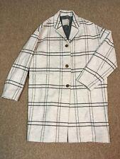 NWOT Everlane Cocoon Wool Coat Winter Jacket, Light Gray Plaid, 6