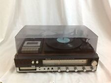 Emerson Stereo AM FM Receiver 8 Track Cassette Tape Record Player Turntable