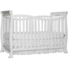 7-in-1 Convertible Crib White Strong Beautiful Baby Furniture with Toddler Stage