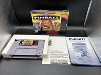 Super Pinball Behind the Mask Super Nintendo SNES In Box - MISSING MANUAL